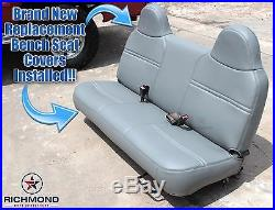 03-07 Ford Tow Truck-Roll Back Ramp -Wrecker -Bottom Vinyl Bench Seat Cover Gray