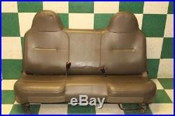 08-10 F-250 Regular Cab Gray Vinyl Bench Seat Manual Track Cushion Cover Foam