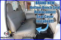 08-10 Ford F350 F450 F550 Jerr-Dan Tow Truck -Bottom Vinyl Bench Seat Cover Gray