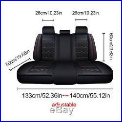 13pc Deluxe Universal Car Seat Cover Full Set Split Bench Back Seat Front+Rear