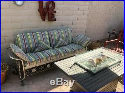 1950s-era Retro 3 Seat Aluminum Glider withCushions and cover (PRICE REDUCED)