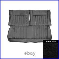 1962-1964 Chevrolet Nova 2 Door Black Split Front Bench Seat Cover 62XS55B