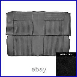 1962-1964 Chevrolet Nova 2 Door Sedan Black Rear Bench Seat Cover 62XS55T