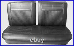 1962-64 Chevy II / Nova / SS Black Split Front Bench Seat Cover PUI