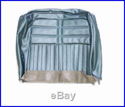 1963 Chevy Impala Front Split Bench Seat Cover Only Light Blue Vinyl #63bs56b