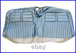 1963 Chevy Impala Ss Coupe Rear Bench Seat Cover Only Light Blue Vinyl #63bs56c