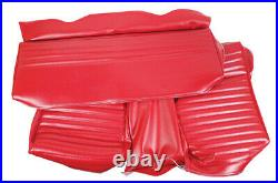 1964-1965 Mustang Rear Fastback Bench Vinyl Seat Cover-Red