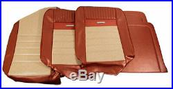 1964-1966 Mustang Deluxe Pony Front Bench Seat Cover-Parchment