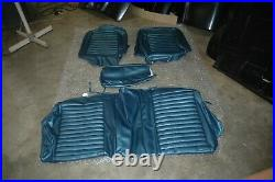 1964-65 Ford Mustang Dk Blue Front Bench Split Brand New Seat Cover Upholstery
