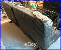 1964 Ford Galaxie 500 Fastback Front Split Bench Seat Frame & Black Cover, OEM