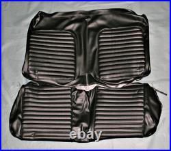 1965 Mustang Convertible Black Front and Rear Seat Cover Set with Front Bench