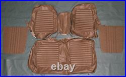 1965 Mustang Coupe Palomino Front and Rear Seat Cover Set with Front Bench Seat