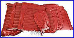 1966 Mustang Standard Front Bench & Rear Seat Cover Set-Red Metallic
