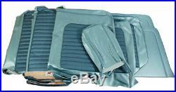 1966 Mustang Standard Front Bench & Rear Seat Cover Set-Turquoise