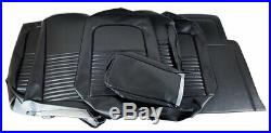 1967 Mustang Convertible Standard Front Bench & Rear Seat Cover Set-Black