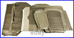 1967 Mustang Fastback Standard Front Bench & Rear Seat Cover Set-Ivy Gold