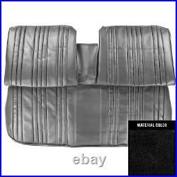 1967 Pontiac Bonneville Black Front Bench WithArmrest Seat Cover 67PSB10B1