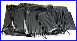 1968 Mustang Convertible Standard Front Bench & Rear Seat Cover Set-Black