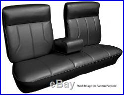 1969 Cadillac DeVille Bench with Armrest Front Seat Cover