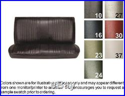 1969 Concours & Malibu Sedan/Hardtop/Wagon Black Straight Bench Seat Cover PUI