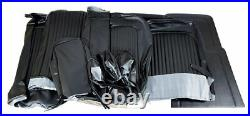 1969 Mustang Coupe Standard Front Bench & Rear Seat Cover Set-Black
