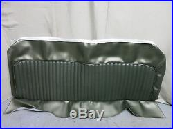 1969 Mustang Fastback 2+2 Rear Bench Seat Cover Upholstery Repro Dark Ivy Green