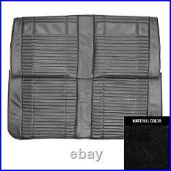 1969 Roadrunner/Satellite/GTX Convt Custom Decor Black Rear Bench Seat Cover