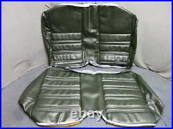 1970 Mustang Coupe Rear Bench Seat Cover Upholstery Reproduction Med Ivy Green