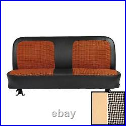 1971-1972 Chevrolet Truck Off White Houndstooth Front Bench Seat Cover