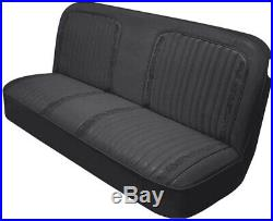 1971 1972 Cheyenne Truck Bench Seat Cover Upholstery Black C10 71 72 Pickup Nib