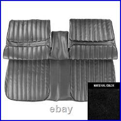 1971-1972 Oldsmobile Cutlass Supreme Black Front Bench Seat Cover 71CS10B1