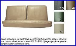 1971-72 BUICK SKYLARK /GS-350 DELUXE FRONT BENCH SEAT COVER witho ARMREST 8 COLRS