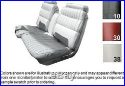 1973-1974 Cadillac Eldorado Standard Front Bench Seat Cover / Armrest 3 Colors
