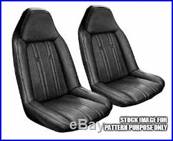 1973-1974 Monte Carlo Black Vinyl Swivel Bucket And Rear Bench Seat Cover Kit
