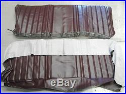 1973 1981 Chevy / GMC Truck Bench Vinyl Front Seat Cover with Pleats (Maroon)
