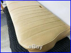 1973-1987 Chevy GMC Truck Bench Seat Restored with New Cover Saddle Tan Velour