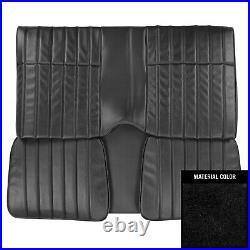1976 Pontiac Firebird Hardtop Standard Black Rear Bench Seat Cover 76ES10C