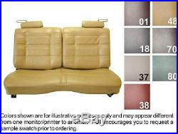 1978-80 Chevrolet Malibu Black Classic Bench Without Armrest Seat Cover PUI