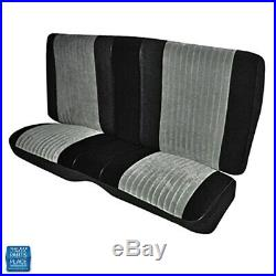 1985-1987 Grand National Rear Bench Seat Cover Pallex Cloth Black & Gray EA