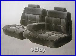 1987-88 Chevy Monte Carlo CL 55/45 Bench with Armrest Front Seat Cover Cloth