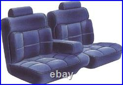 1987-88 Monte Carlo CL Cloth Black 55/45 Bench With Armrest Seat Cover PUI