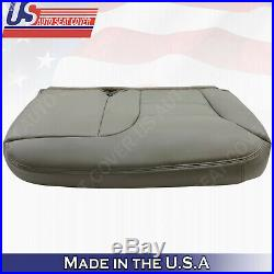 1995 1996 1997 1998 1999 Chevy Split Bench Bottom Seat Cover Gray Leather 60/40