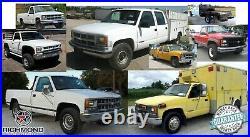 1995-1999 Chevy Silverado Work-Truck Base WithT-Bottom Bench Seat Vinyl Cover Gray