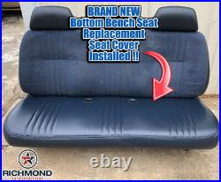 1995-1999 GMC Sierra C/K 1500 2500 3500 SL-Lean Back Bench Seat Vinyl Cover Gray