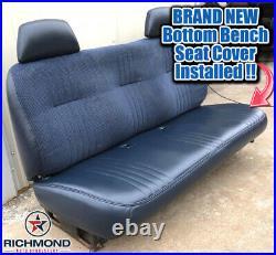 1995-2000 Chevy Cheyenne C/K Work-Truck LEAN BACK Bench Seat Vinyl Cover Blue