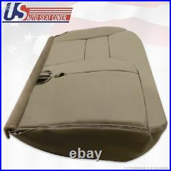 1995 99 Chevy Tahoe Suburban Driver Side Leather Bottom Bench Seat Cover Tan