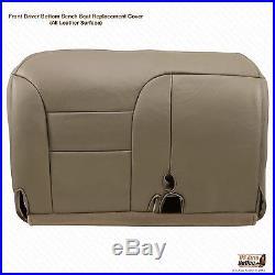 1997 1998 1999 Chevy Silverado Driver Bench Bottom Seat Cover Tan 60/40 split