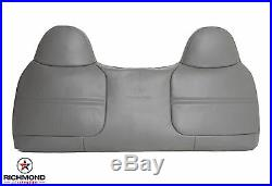 1999 Ford F250 F350 F450 F550 XL -Lean Back (Top) Bench Seat Vinyl Cover Gray
