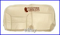 2000 2001 Ford Excursion Second Row Bench Bottom Leather Seat Cover Tan