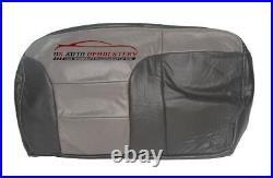 2000 Chevy Tahoe Z71 Second Row Bench 60 Bottom Leather Seat Cover 2-Tone Gray